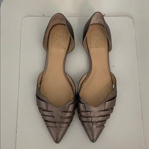 Vince camuto silver flats